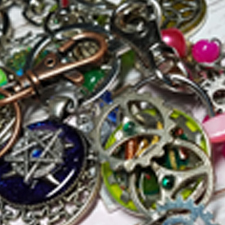 KEYCHAINS, BOOKMARKS and MORE