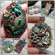 Mixed Media Steampunk Jewelry